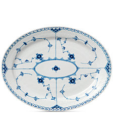 Royal Copenhagen Blue Fluted Half Lace Large Oval Platter