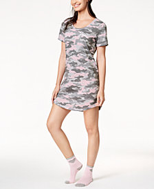 Jenni Printed Sleepshirt & Sock Set, Created for Macy's