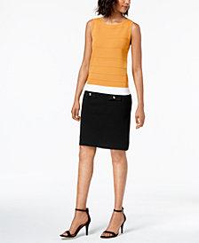 Anne Klein Striped Bodycon Sheath Dress