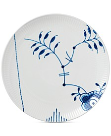Blue Fluted Mega Coupe Luncheon Plate