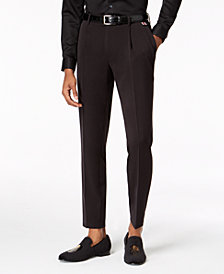 I.N.C. Men's Slim-Fit Stretch Cropped Pleated Pants, Created for Macy's
