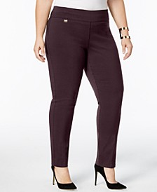 Plus & Petite Plus Size Tummy-Control Pull-On Skinny Pants, Created for Macy's