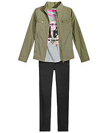 Epic Threads Big Girls Jacket, T-Shirt & Jeans, Created for Macy's