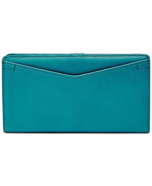 Fossil Caroline RFID Slim Leather Bifold Wallet