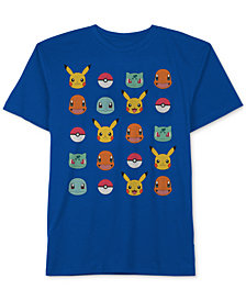 Pokémon Big Boys Graphic-Print Cotton T-Shirt