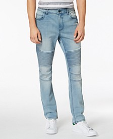 Men's Slim-Fit Stretch Destroyed Moto Jeans, Created for Macy's