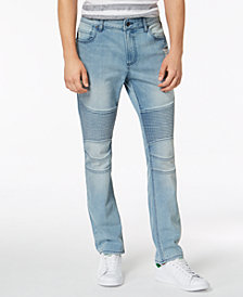 American Rag Men's Slim-Fit Stretch Destroyed Moto Jeans, Created for Macy's