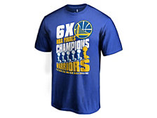 Majestic Men's Golden State Warriors Court Drillz Multi Champ T-Shirt