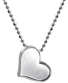 "Heart 16"" Pendant Necklace in Sterling Silver"