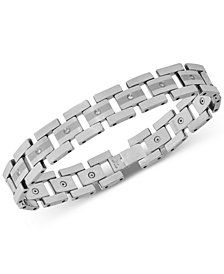 Men's Diamond Link Bracelet (1/3 ct. t.w.) in Tungsten