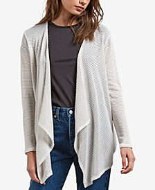 Juniors' Open-Front Wrap Cardigan