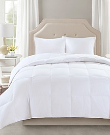 Level 2 300 Thread Count Cotton Sateen White Full/Queen Down Comforter with 3M Scotchgard