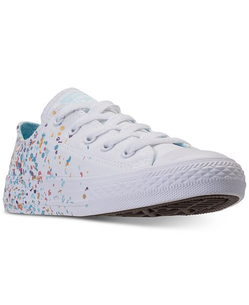 26c5a36899c ... Converse Girls' Chuck Taylor All Star Ox Confetti Casual Sneakers from  Finish ...