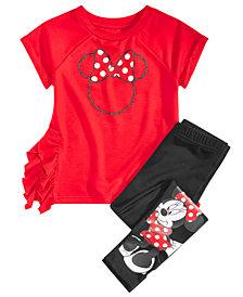 Disney Little Girls 2-Pc. Minnie Mouse Top & Leggings Set