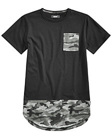 Univibe Big Boys Camo Pocket T-Shirt