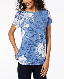 I.N.C. Printed Burnout T-Shirt, Created for Macy's