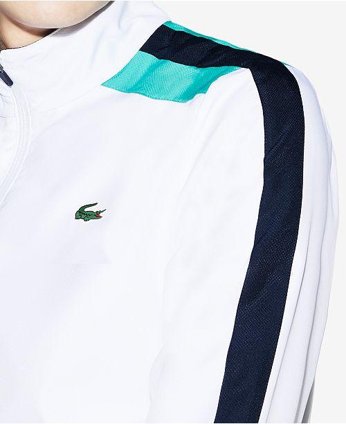 4232e6c1659b Lacoste Men s Sport Colored Bands Taffeta Tennis Tracksuit   Reviews ...