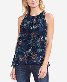 Vince Camuto Sleeveless Floral-Print Top