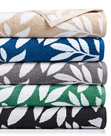 CLOSEOUT! Charter Club Elite Cotton Leaves Towel Collection, Created for Macy's