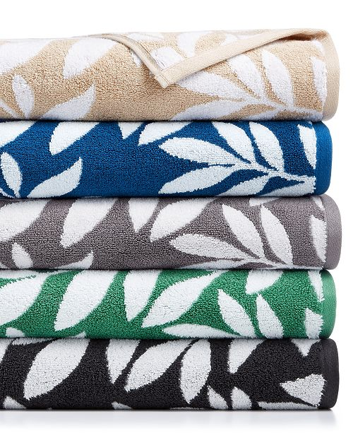 Charter Club CLOSEOUT! Elite Cotton Leaves Towel Collection, Created for Macy's