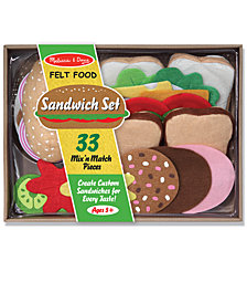 Melissa and Doug Felt Food Kids Toys, Kids Sandwich Set