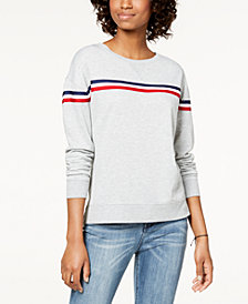 Hippie Rose Juniors' Striped Sweatshirt