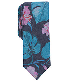 Bar III Men's Healani Palm Skinny Tie, Created for Macy's