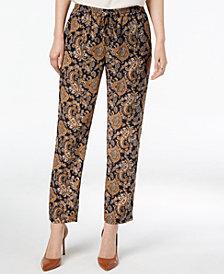 MICHAEL Michael Kors Printed Drawstring-Waist Pants
