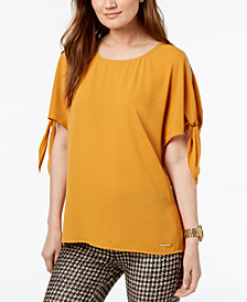 MICHAEL Michael Kors Split-Sleeve Top,a Macy's Exclusive Style