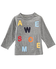 First Impressions Toddler Boys Awesome-Print T-Shirt, Created for Macy's