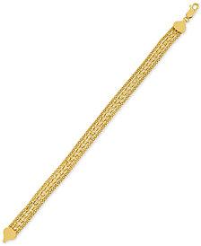 Fancy Link Bracelet in 14k Gold