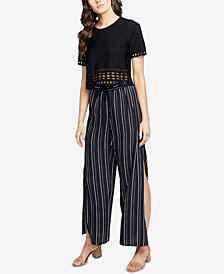 RACHEL Rachel Roy Striped Side-Slit Pants, Created for Macy's