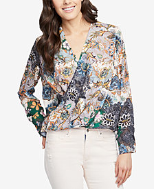 RACHEL Rachel Roy Printed Crossover Top, Created for Macy's