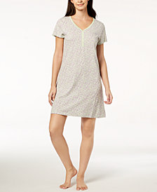 Charter Club Cotton Picot-Trim Sleepshirt, Created for Macy's