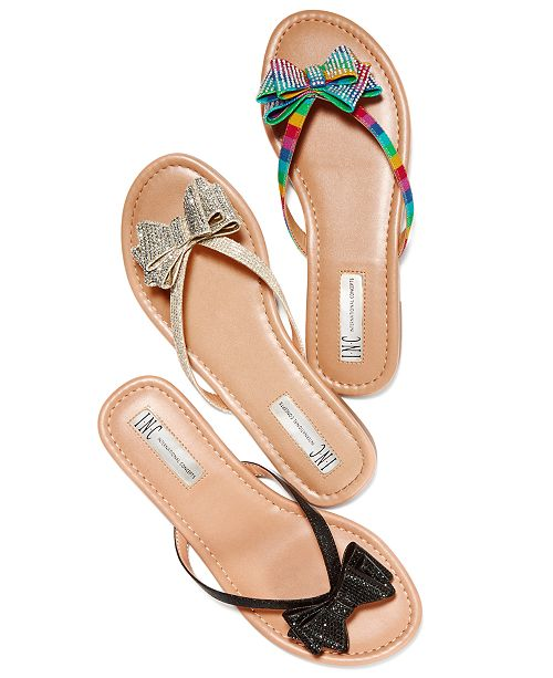 3dd2e4c88 INC International Concepts I.N.C. Women's Mabae Bow Flat Sandals, Created  for Macy's ...
