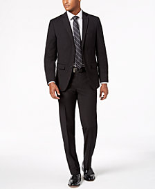 Van Heusen Flex Men's Slim-Fit Stretch Black Neat Suit