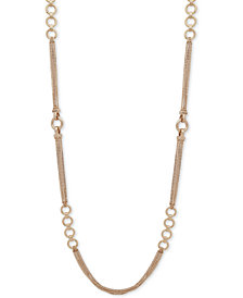 "DKNY Gold-Tone Link 42"" Strand Necklace"