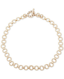 "DKNY Gold-Tone Link 17"" Collar Necklace"