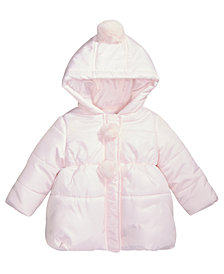 First Impressions Baby Girls Pom-Poms Hooded Jacket, Created for Macy's
