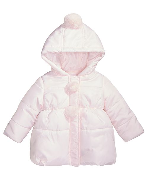 5f3ccb692 First Impressions Baby Girls Pom-Poms Hooded Jacket