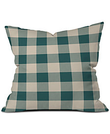 Deny Designs Zoe Wodarz Cozy Woods Plaid Throw Pillow