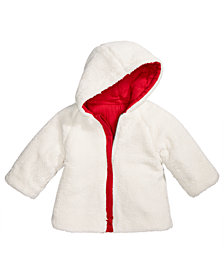 First Impressions Baby Boys & Girls Hooded Reversible Sherpa Jacket, Created for Macy's