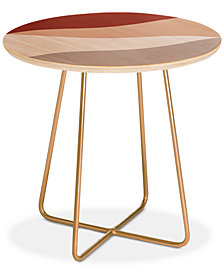 Deny Designs Kelly Haines Desert Waves Round Side Table