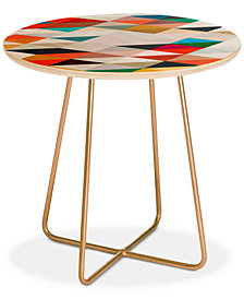 Deny Designs Three Of The Possessed South Round Side Table