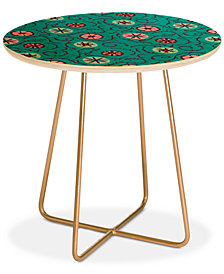 Deny Designs Holli Zollinger SUZANI TURQUOISE Round Side Table