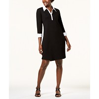 Karen Scott Cotton Collared Dress