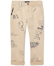 Polo Ralph Lauren Toddler Boys Slim Fit Graphic Cotton Chino Pants