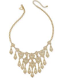 "Thalia Sodi Gold-Tone Filigree 18"" Statement Necklace, 18"" + 3"" extender, Created for Macy's"