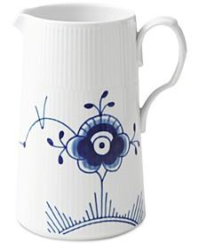 Blue Fluted Mega 1.7-L Porcelain Modern Jug