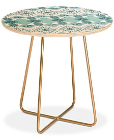 Deny Designs Dash and Ash Sunday Picnic Round Side Table